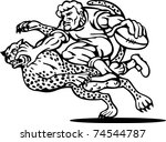 illustration of a rugby player...   Shutterstock . vector #74544787