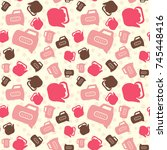 seamless colorful pattern.... | Shutterstock .eps vector #745448416