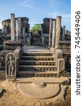 ancient city of polonnaruwa ... | Shutterstock . vector #745449406