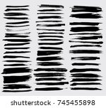 grunge paint stripe . vector... | Shutterstock .eps vector #745455898