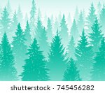 abstract background. forest... | Shutterstock .eps vector #745456282