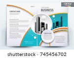 front and back cover of a... | Shutterstock .eps vector #745456702