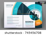 front and back cover of a... | Shutterstock .eps vector #745456708