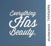 inspirational and motivational... | Shutterstock . vector #745456996