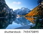 Beautiful Lake In The Alps At...