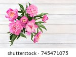 Bouquet Of Pink Peonies On...