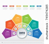 business presentation or... | Shutterstock .eps vector #745474285