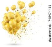 golden balloons and golden...