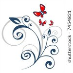 dark floral pattern and the... | Shutterstock .eps vector #7454821