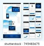 website template design with... | Shutterstock .eps vector #745483675