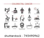 colorectal cancer symptoms.... | Shutterstock .eps vector #745490962
