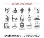 colorectal cancer symptoms.... | Shutterstock .eps vector #745490962