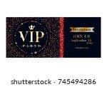 vip club party premium...   Shutterstock .eps vector #745494286