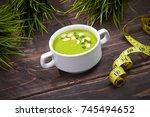 broccoli cream soup | Shutterstock . vector #745494652
