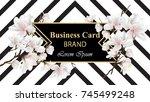business luxury card vector.... | Shutterstock .eps vector #745499248