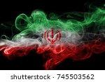 iran smoke flag   Shutterstock . vector #745503562