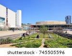 tel aviv  israel   april  2017  ... | Shutterstock . vector #745505596