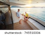 friendship and vacation. two... | Shutterstock . vector #745510336