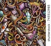 cartoon cute doodles hand drawn ... | Shutterstock .eps vector #745512985