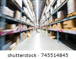 situation in department store... | Shutterstock . vector #745514845