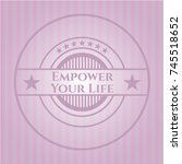 empower your life pink emblem.... | Shutterstock .eps vector #745518652