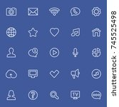 social network thin icons | Shutterstock .eps vector #745525498