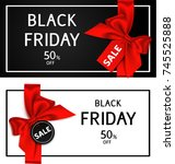 black friday sale flayer... | Shutterstock .eps vector #745525888