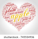 apple. word cloud in shape of... | Shutterstock .eps vector #745534936