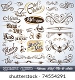 vintage decorative calligraphic ... | Shutterstock .eps vector #74554291
