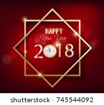 happy new year 2018 greeting... | Shutterstock .eps vector #745544092