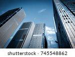 skyscrapers in commercial area  ... | Shutterstock . vector #745548862