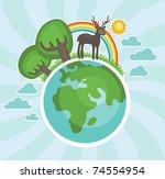 natural life illustration.... | Shutterstock .eps vector #74554954