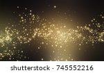 gold glitter stardust... | Shutterstock .eps vector #745552216