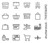 thin line icon set   shop ... | Shutterstock .eps vector #745556092