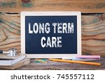 long term care. health and... | Shutterstock . vector #745557112