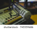 radio studio  professional... | Shutterstock . vector #745559686