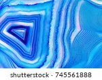amazing banded blue agate... | Shutterstock . vector #745561888