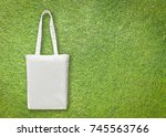 white cotton canvas eco... | Shutterstock . vector #745563766