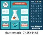 maternity infographic template... | Shutterstock .eps vector #745564468