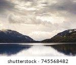 scottish lake in the highlands | Shutterstock . vector #745568482
