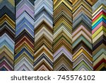 colorful samples of picture... | Shutterstock . vector #745576102