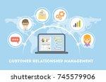customer relationship... | Shutterstock . vector #745579906