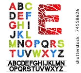 vector alphabet   created of... | Shutterstock .eps vector #74558626