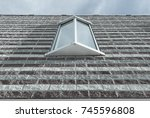 isolated modern window design.... | Shutterstock . vector #745596808