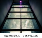 abstract image of framed window ... | Shutterstock . vector #745596835