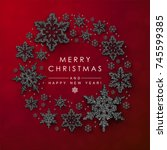christmas background with...   Shutterstock .eps vector #745599385