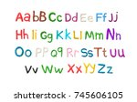 handmade modeling clay alphabet ... | Shutterstock .eps vector #745606105