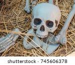 halloween skeleton decoration | Shutterstock . vector #745606378