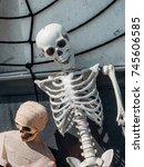 halloween skeleton decoration | Shutterstock . vector #745606585