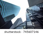 new york business center... | Shutterstock . vector #745607146